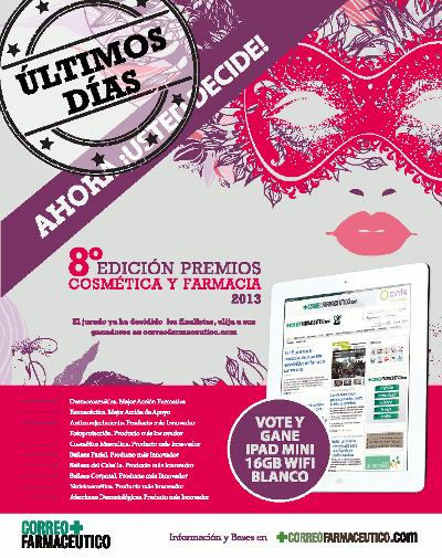 Participa en la 8ª Edición de los Premios de Cosmética y Farmacia 2013