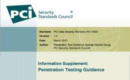 PCI DSS : guía complementaria sobre pruebas de penetración (Penetration testing guidance)