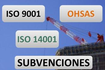 Subvenciones ISO 9001 14001 OHSAS Pais Vasco Sector Construcción