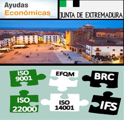Extremadura 80% de subvención para Sistemas de Gestión