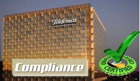 Telefónica y Endesa se certifican en Compliance Penal