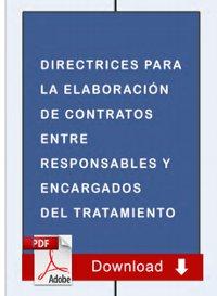 Directrices para la elaboración de contratos entre responsables y encargados del tratamiento