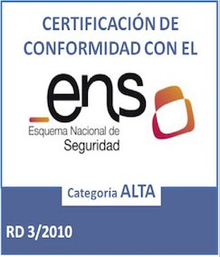 ENIMBOS Certificado ENS categoria ALTA