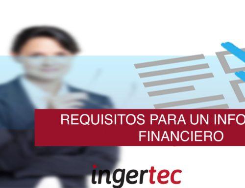 Requisitos para informe de información No financiera