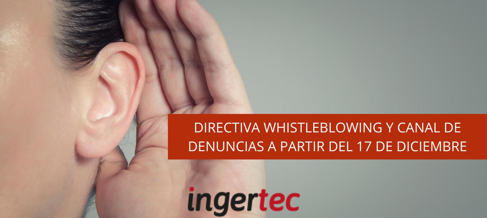 Directiva Whistleblowing y Canal de Denuncias